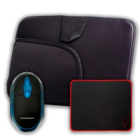 Kit Capa para Notebook 15,6 + Mouse + Mouse Pad