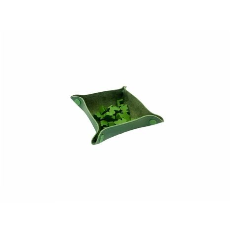 Bandeja de Peças em Couro Ecológico Verde 13x13