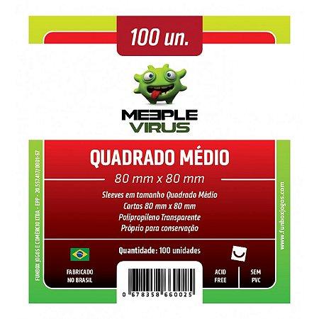 Sleeve Meeple Vírus Quadrado Médio (80mm x 80mm)