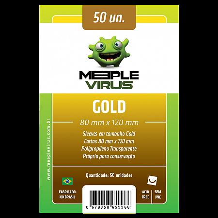 Sleeve Meeple Vírus Gold (80mm x 120mm)