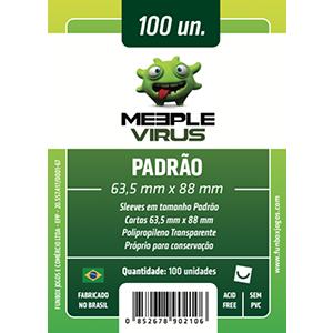 Sleeve Meeple Vírus Padrão (63,5mm x 88mm)