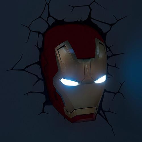 MARVEL - Luminaria Mascara Homem de Ferro