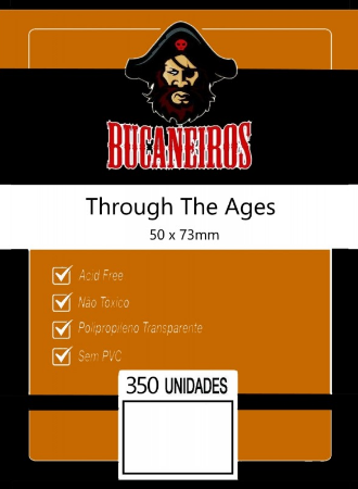 Kit de Sleeves Bucaneiros Customizado Through The Ages (50mm X 73mm)