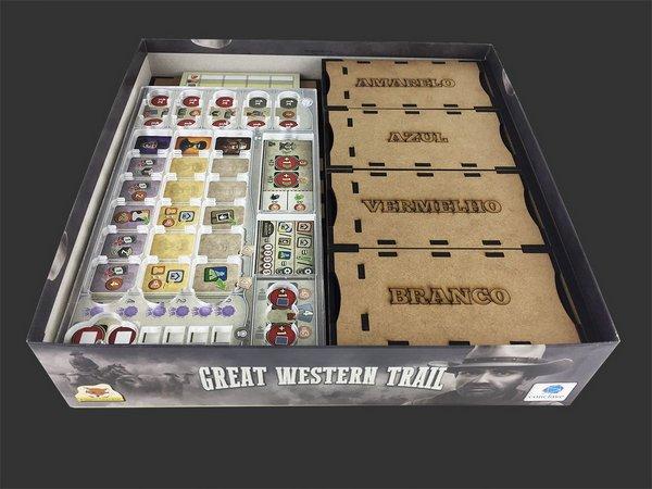 Organizador (Insert) para Great Western Trail PREMIUM (com Overlay)