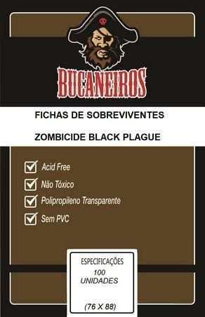 Sleeve Bucaneiros Customizado Fichas de Sobreviventes Zombicide Black Plague (76mm X 88mm)
