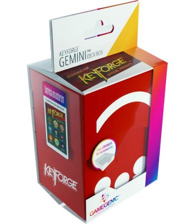 Keyforge Deck Box Gemini Red - Vermelho