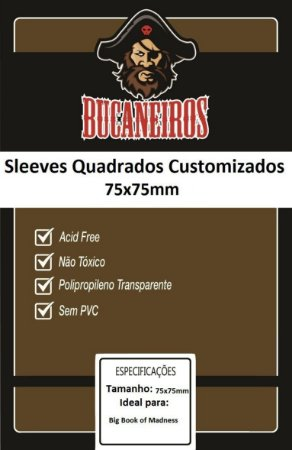 Sleeve Bucaneiros Customizado Big Book of Madness (75mm x 75mm)