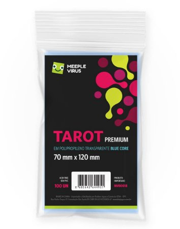 Sleeves Tarot Premium - 70 x 120 mm (Blue Core)
