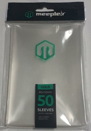Sleeves MeepleBR - GOLD (80x120mm)