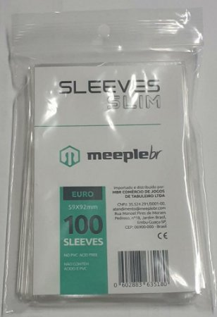 Sleeves MeepleBR SLIM - EURO (59x92mm)