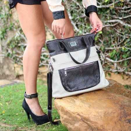 Bolsa Feminina de Couro Legítimo Antonella Marfim