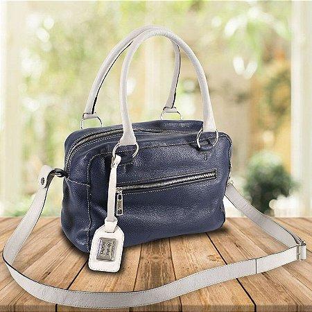345ce3d45 Bolsa Feminina de Couro Legítimo Alice Azul - Bolsas Femininas de ...