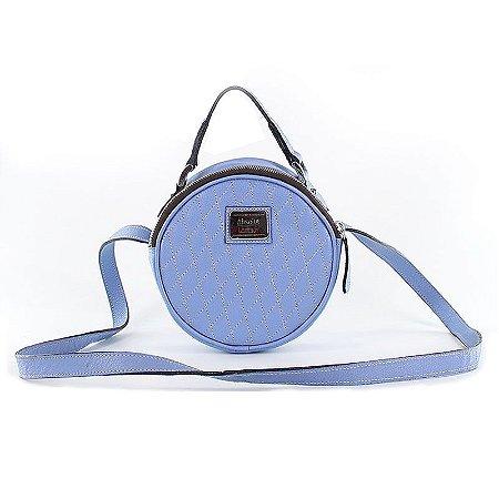 Bolsa Feminina de Couro Legítimo Amorine Azul Claro