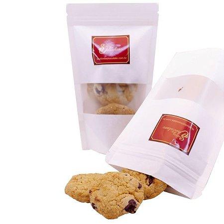 Cookie Baunilha com Gotas de Chocolate Belga 50% Cacau