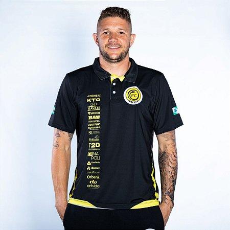 Camiseta Polo Elastic Preta - FC Cascavel 2021