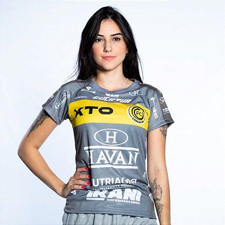 Baby Look Cinza Treino 2021 - FC Cascavel