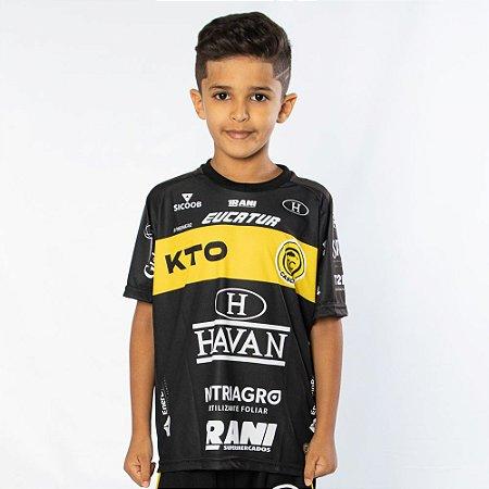 Camisa Infantil Preta/Amarela - FC Cascavel 2021