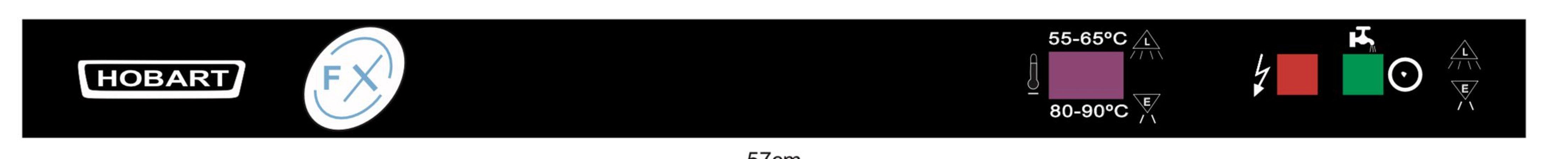 Adesivo Membrana Etiqueta do Painel Lava Louças Hobart FX 40