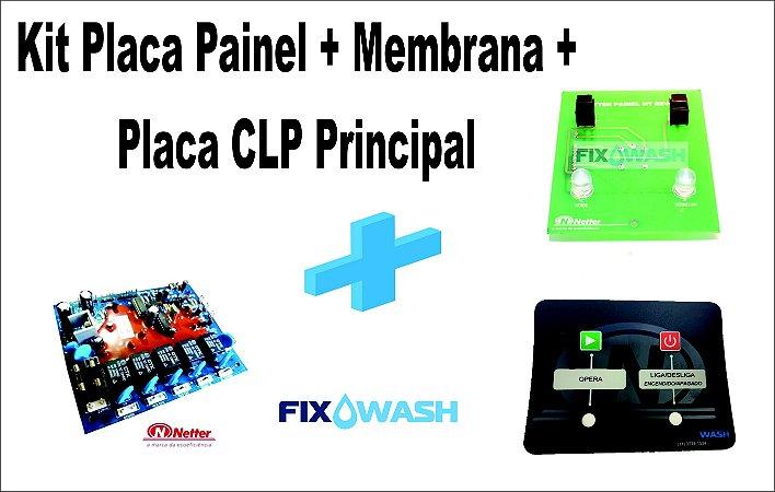 Kit Placa Clp Lava Louças Netter Original + Membrana+ Placa do painel