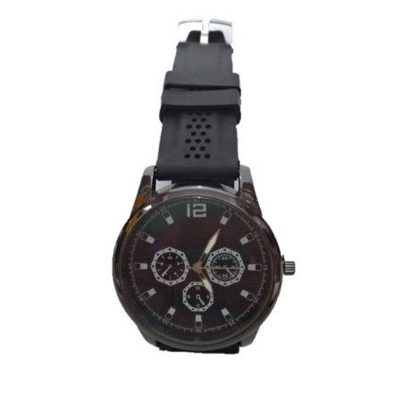 Relógio Masculino Visor Redondo Quartz Pulseira de Silicone