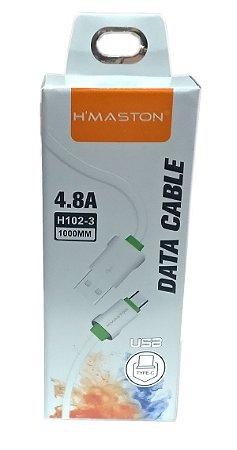Cabo de Dados USB Tipo C Turbo H'maston