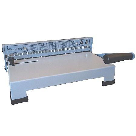 Máquina de Encadernação Perfuradora para Espirais Excentrix