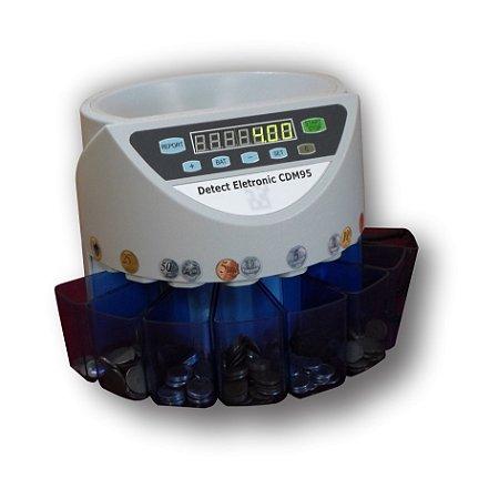 Máquina de Contar e Separar Moedas CDM95 Detect Eletronic 220v