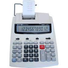 Calculadora de Mesa Eletrônica com impressora, 201TS