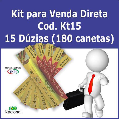 Kit com 180 Canetas para detectar dinheiro falso Detect Pen