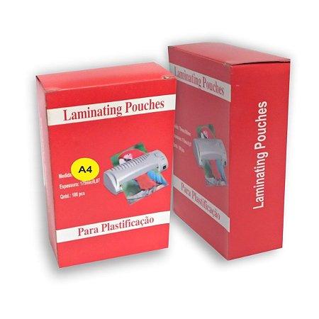 Pouch Film 220x307 mm 0,05 Polaseal Tamanho A4 125 Micron Pacote com 100 plásticos