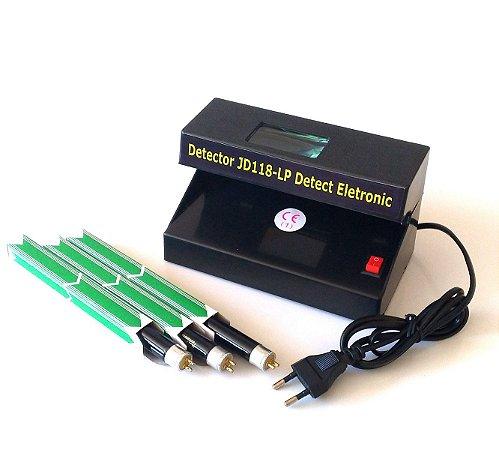 Detector de dinheiro falso  JD118-LP Detect Eletronic - Bivolt COM  LAMPADA EXTRA
