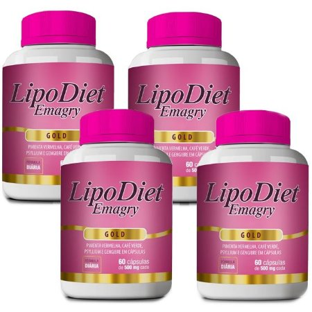 Kit Lipo Diet Emagry Gold - 4 unidades