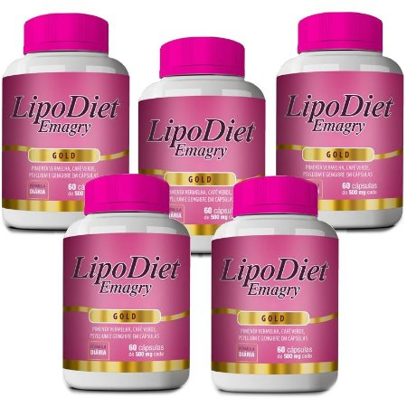 Kit Lipo Diet Emagry Gold - 5 unidades