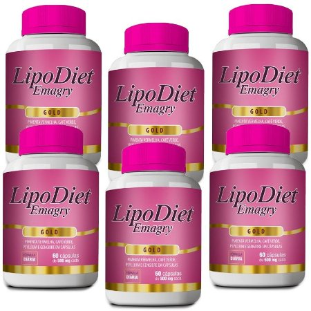 Kit Lipo Diet Emagry Gold - 6 unidades