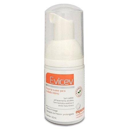 Evicev 30ml - Espuma para cuidado íntimo feminino