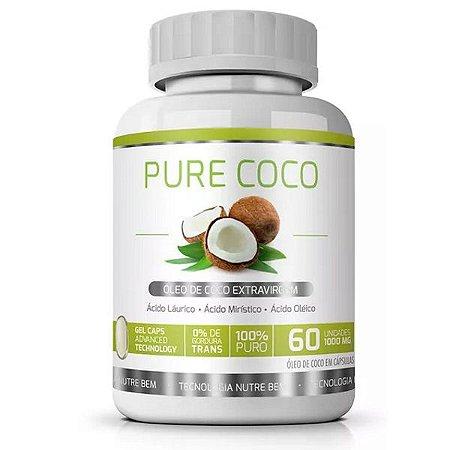 Pure Coco 60 cáps - Óleo de Coco Extravirgem Emagrecedor