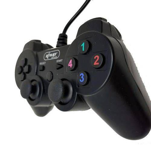 CONTROLE COM FIO P/ PLAY 3 E PC DUALSHOCK KNUP KP-4123