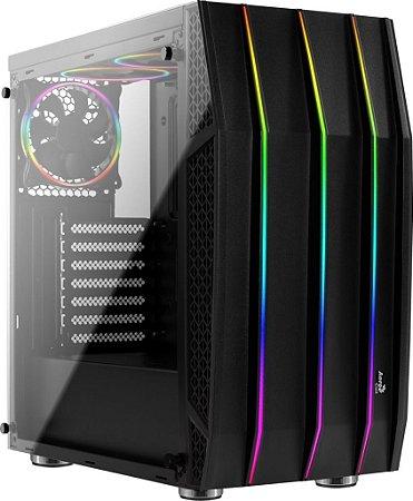 GABINETE AEROCOOL ATX KLAW RGB BK V1