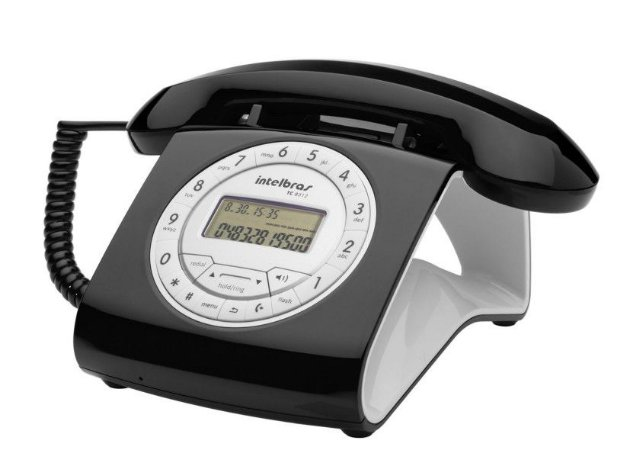 TELEFONE COM FIO TC8312 PRETO - INTELBRAS