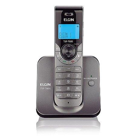 Telefone sem fio Elgin TSF 7800 - Viva Voz - Indentificador Chamadas - Grafite