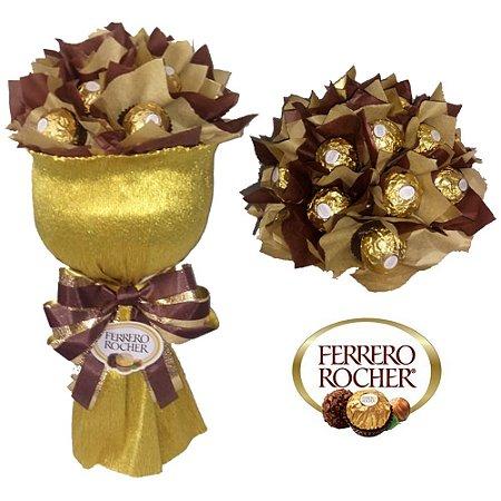 BUQUÊ DE CHOCOLATE - FERRERO ROCHER OU RAFFAELLO