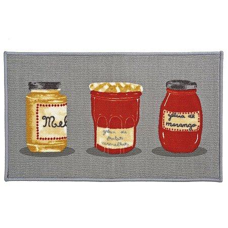 Tapete Aroeira para cozinha - Dia a Dia Geleia De Frutas 45X75cm