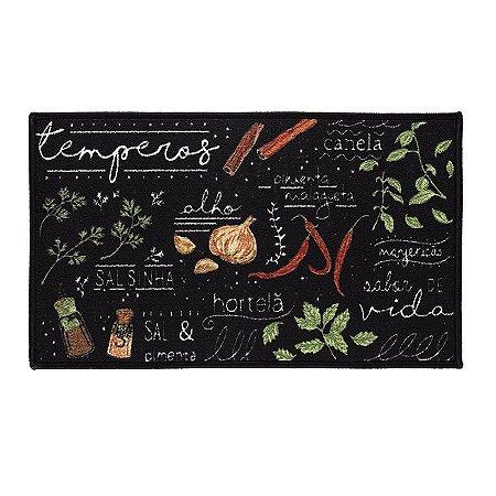 Tapete Aroeira para cozinha - Dia a Dia Temperos 2.0 45X75cm