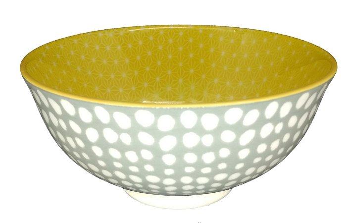 Bowl Cinza e Amarelo