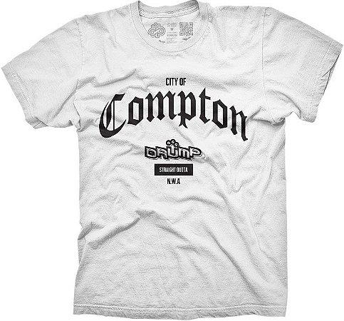 Camiseta Large Drump Masculina Compton Branca