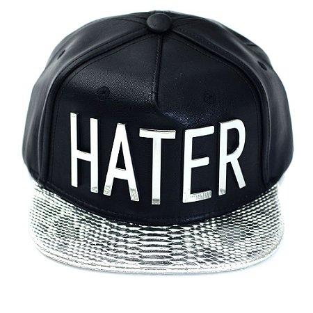 Boné Hater Snapback Aba Reta Prata - Cap Original