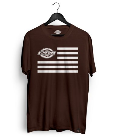 Camiseta Dickies Logo Flag Marrom