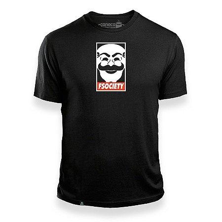 Camisa Fsociety Mr. Robot Preta