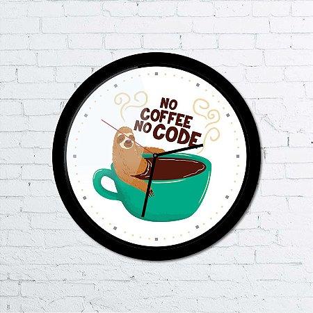 Relógio de parede No Coffee No Code