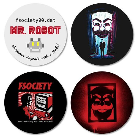 Kit porta-copos Mr. Robot